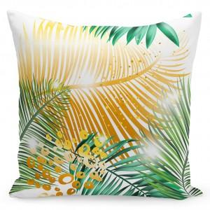 Bílý povlak na polštáře 50x60 cm s palmovými listy
