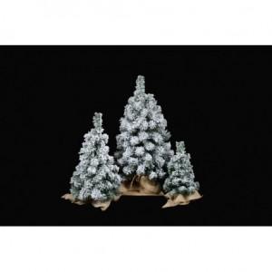 Malý vánoční stromeček se sněhem na stůl
