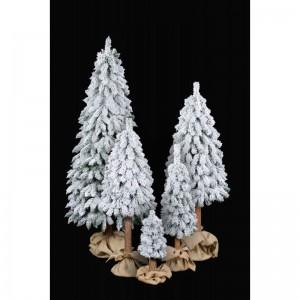 Umělý vánoční stromeček se sněhem a kmenem