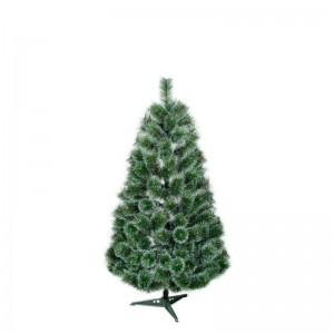Borovice umělý vánoční stromek s dlouhým jehličím s imitací sněhu