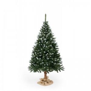 Stromek na Vánoce smrk s imitací sněhu na koncích větviček