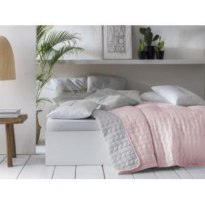 Kvalitní oboustranný přehoz pudrově růžové barvy