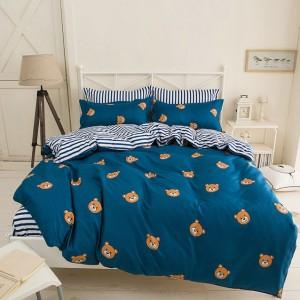 Oboustranné povlečení na postel pro děti v tmavě modré barvě