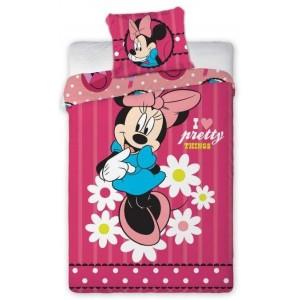 Růžové povlečení na postel pro dívky s motivem MINNIE