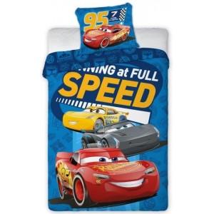 Modré povlečení na postel pro chlapce s motivem CARS