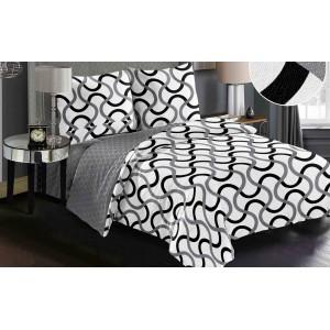 Moderní povlak na postel v bílé barvě s originálním motivem