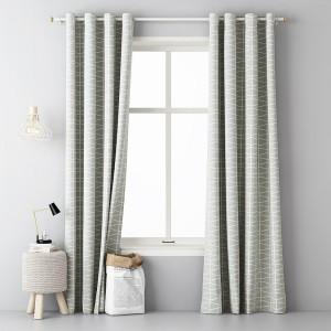 Luxusní hotové závěsy v světle šedé barvě s bílým jednoduchým vzorem