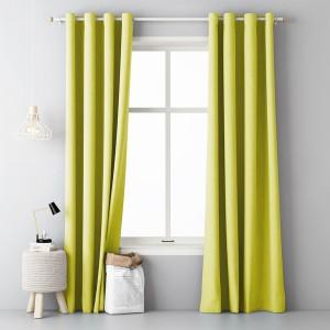 Jednoduchý závěs do obýváku ve žluté barvě v rozměru 140x250cm