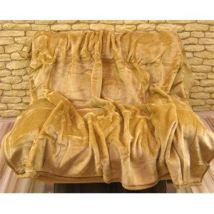 Originální teplé deky pískové barvy