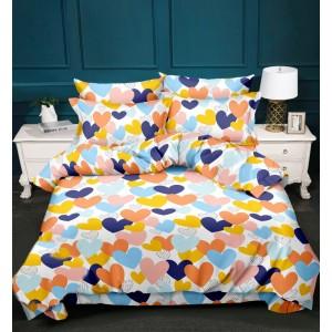 Luxusní ložní prádlo s motivem barevných srdcí