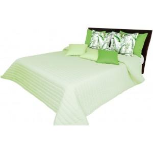 Nádherný prošívaný přehoz zelené barvy na manželskou postel