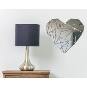 Nalepovací zrcadlo na stěnu ve tvaru srdce