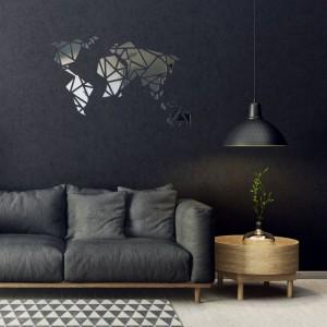 Nástěnné zrcadlo ve tvaru mapy světa