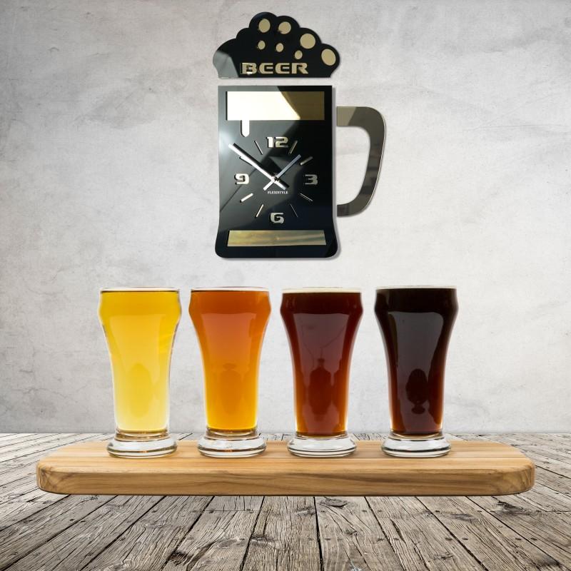 Pivní sklenice nástěnné hodiny do kuchyně