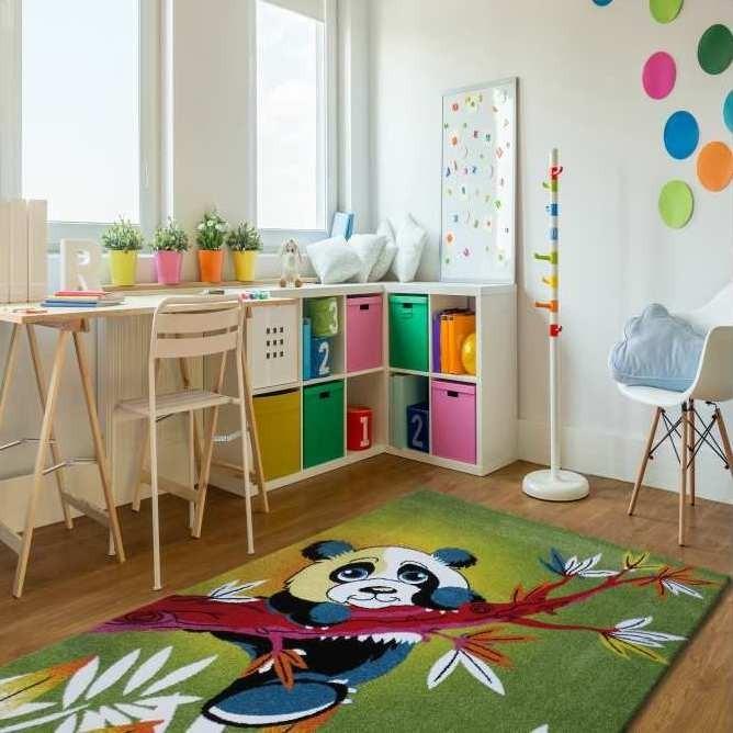 Kvalitní dětský koberec se vzorem pandy