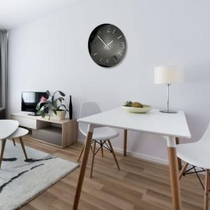 Luxusní nástěnné hodiny do obývacího pokoje v černé barvě