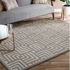 Jemný a elegantní koberec v béžové barvě