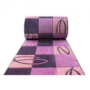 Moderní fialový koberec na metry