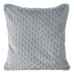Dekorační povlaky na polštáře 45x45cm v tmavě šedé barvě se vzorováním