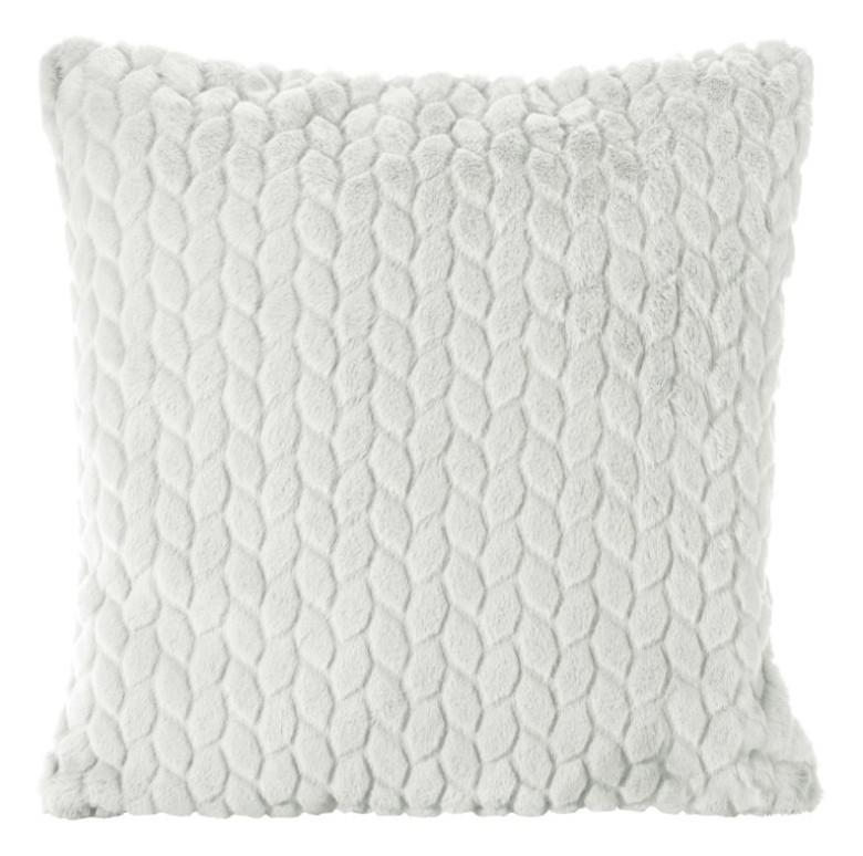 Světle šedý povlak na polštář s tištěným vzorem