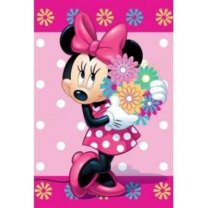 Růžová deka pro dívky Disney MINNIE