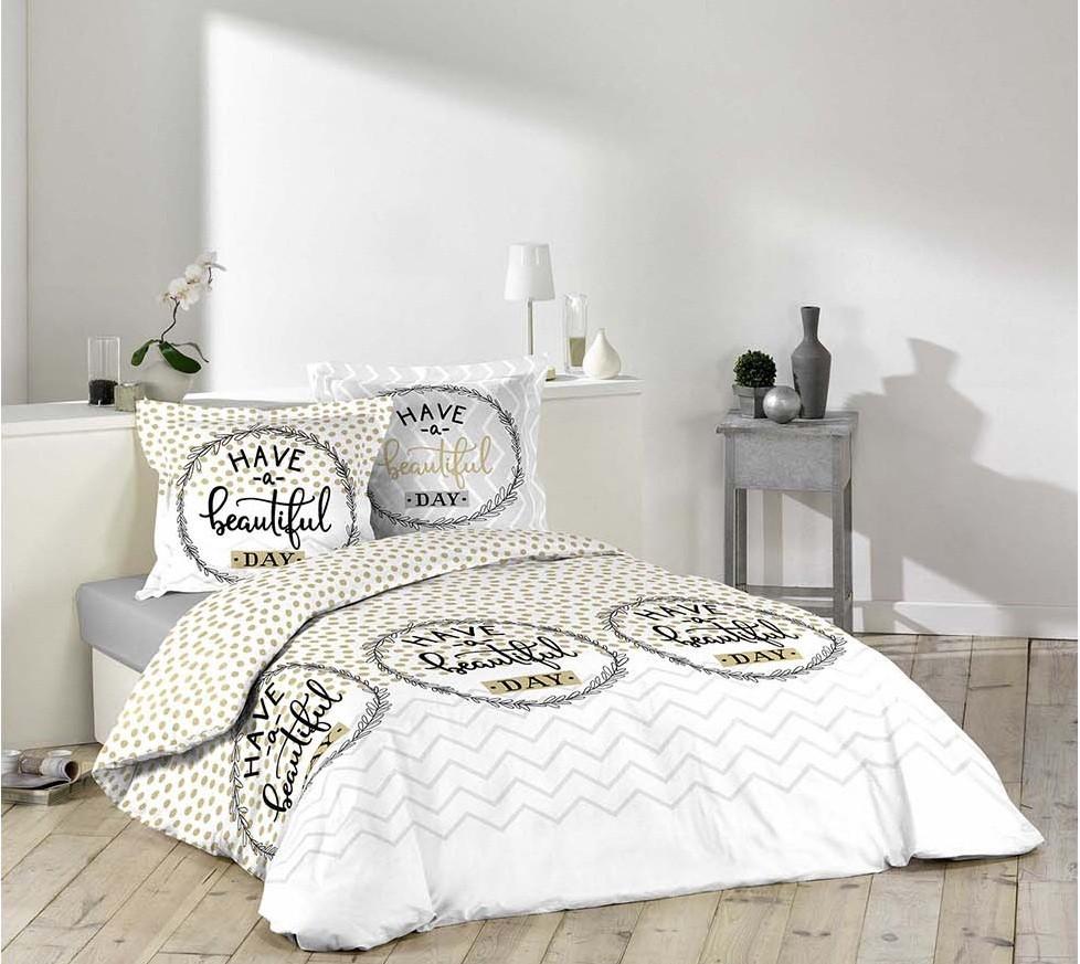 Originální povlečení z bavlny BEAUTIFUL DAY 200 x 220 cm