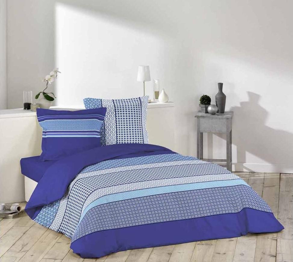 Modré povlečení DAMARA BLUE 200 x 220 cm