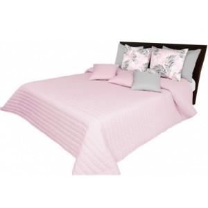 Růžové přehozy na postel prošívané