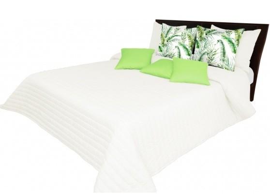 Světlo krémový přehoz na postel s prošívanými pásy