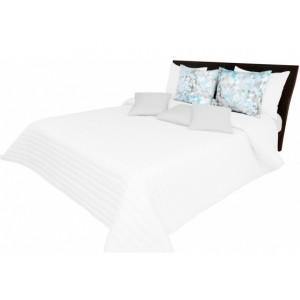 Přehoz na postel bílý s prošívaním