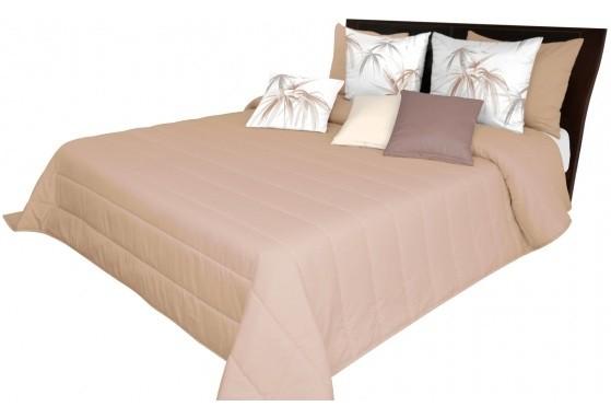 Světlo hnědé přehozy na postel do ložnice
