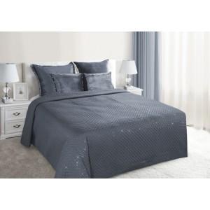 Luxusní přehoz na postel v tmavě šedé barvě