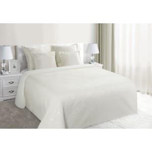 Světle krémový prošívaný přehoz přes postel