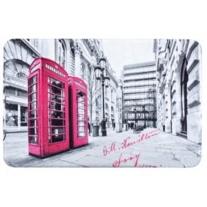 LONDON šedě ružové koberečky do koupelny