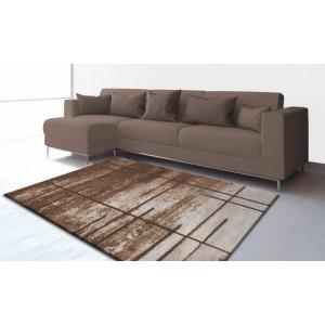 Moderní hnědo krémový koberec do obýváku