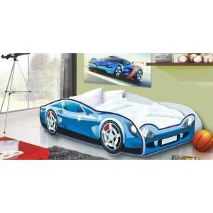 Chlapecká postel auto v modré barvě