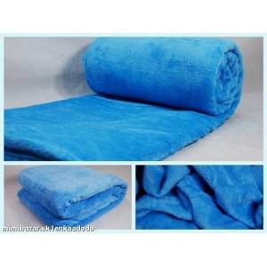 Luxusní deky z mikrovlákna rozměr 160 x 210cm nebeská modra č.45