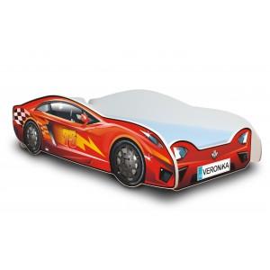 Červené auto postel