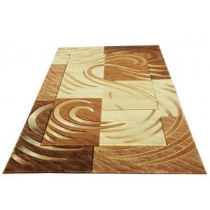 Hnědý koberec ve tvaru obdélníku