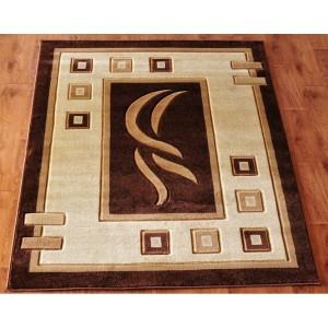 Kvalitní koberec kusový v hnědé barvě