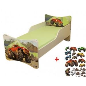 Dětská postel se zábranou s motivem pohádky BLAZE