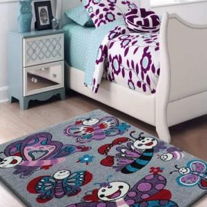 Dětský koberec motýlky