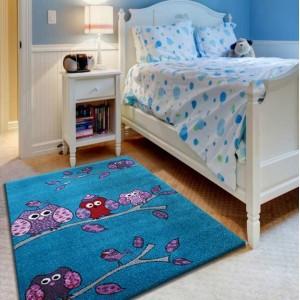 Moderní koberec s dětským motivem