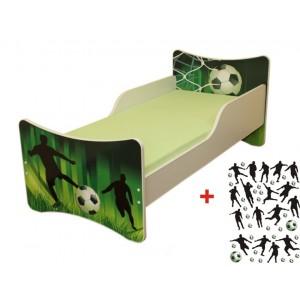 Bíla dětská postel s fotbalovým motivem