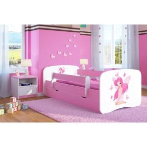 Růžová holčičí postel s motivem víly