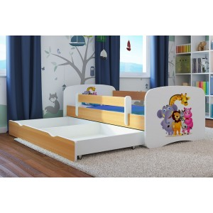 Bílé dětské postele s motivem pohádky Madagaskar