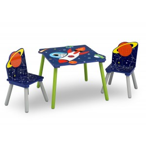 Set dětského stolu a židlí s motivem astronaut