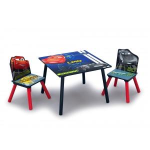 Chlapecký stůl a židle s potiskem pohádky Auta