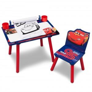Dětský stůl na kreslení se židlemi s pohádkou Auta