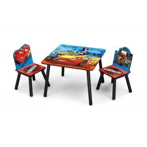 Chlapecký set židlí a stolu Auta